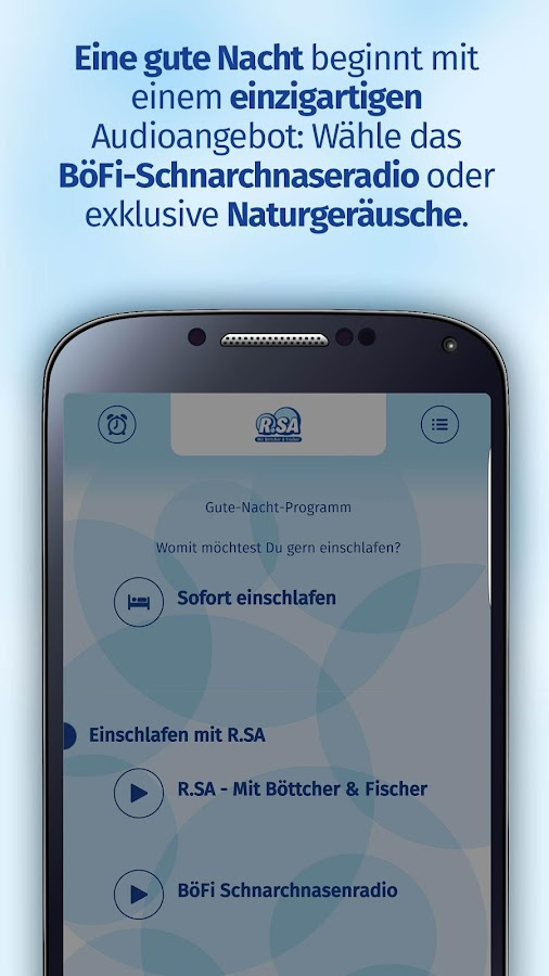 R.SA BöFi-App – Screenshot