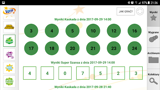 polish multi lotto results