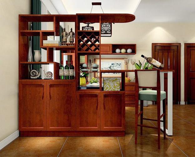 thi công tủ bếp gỗ tự nhiên 3