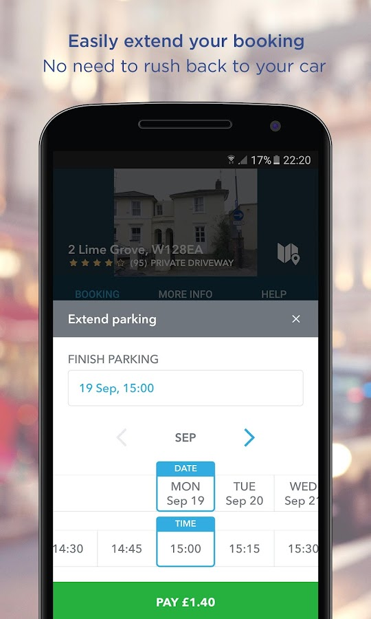 JustPark Parking- screenshot