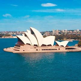 Sydney Opera House  by Melody Ann Fernandez - City,  Street & Park  Vistas