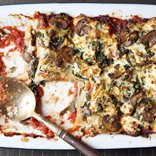 Clean Green Spinach-Mushroom Lasagna