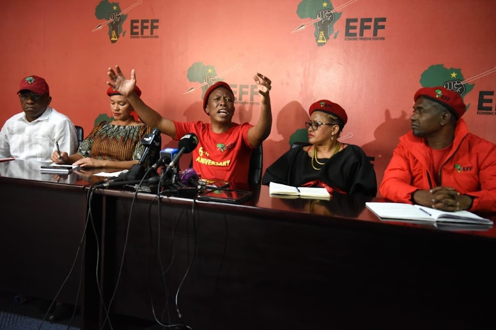 EFF se plan vir xenofobie, vrouedoder en makro-ekonomiese beleid - TimesLIVE