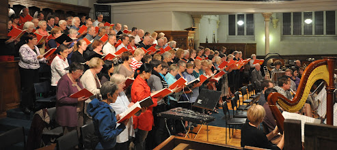 Photo: City Choir Dunedin with Southern Sinfonia at final rehearsals for the Nature's Bounty concert presented on 23 March 2013. Conductor: David Burchell. Photos by John Roxborogh
