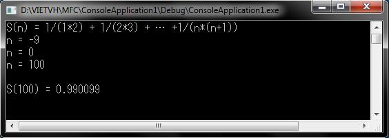 Tính tổng S(n) = 1/(1x2) + 1/(2x3) + … 1/(nx(n+1))