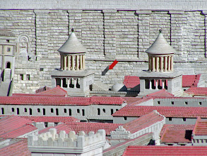 Photo: The arrow points to the location of the Western Wall.