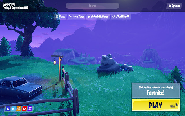 Fortnite Battle Royale New Tab Page