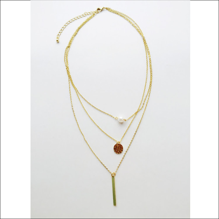 N022 - G. Minimalist Faux Pearl Necklace by House of LaBelleD.