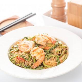 Lemongrass Shrimp And Rice Vermicelli.