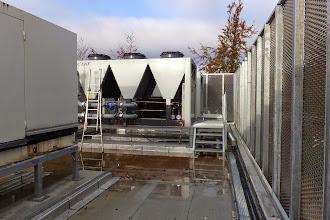 Photo: Groupe froid caché derrière la résille #datacenter #reims (Visite de chantier 06.11.2014)