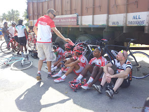Photo: Team Director taking care of the boys..