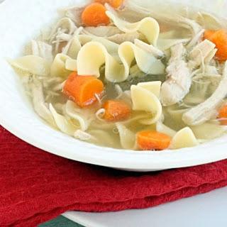 {Crock Pot} Chicken Noodle Soup.