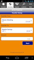Screenshot of EFCU Financial App
