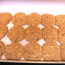 Chocolate Chip Cookies by Rita Goebert - Food & Drink Cooking & Baking ( baking; chocolate chip cookies; pampered chef products; stoneware baking sheet,  )