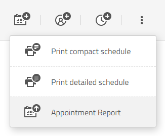 appointment export report