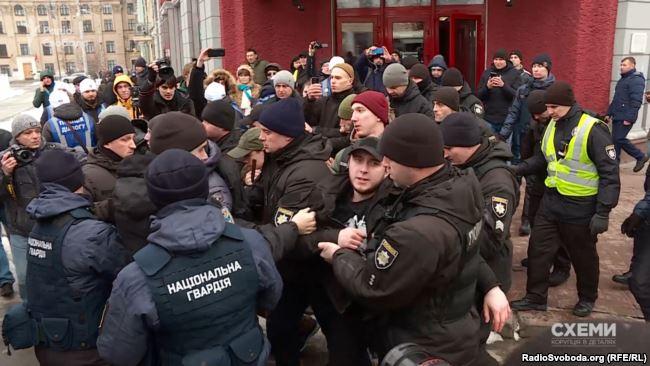 Затримання активістів на виступі Юлії Тимошенко у Києві 9 лютого 2019 року