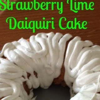 Strawberry Lime Daiquiri Cake