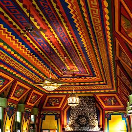 Rainbow Ceiling by Joan Sharp - Artistic Objects Other Objects ( ceiling, artistic, rainbow colors, colorful, vivid,  )