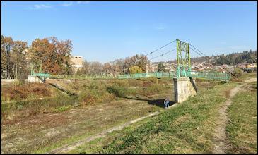 Photo: Turda,  pasarela peste Raul Aries, vedere de pe dig Str. Stefan cel Mare - 2018.11.04