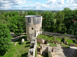Photo: I climbed a tower to see more of the castle.  The castle is located in Latvia's first National Park - the Gauja National Park. Most of what I saw dated to the 15th and 16th century.
