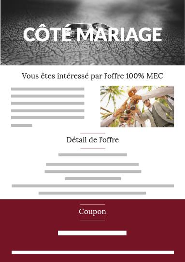 Offre mec mariage