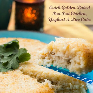 Quick Golden-Baked Peri Peri Chicken, Yoghurt & Rice Cake