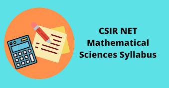 Syllabus for CSIR NET Mathematical Sciences