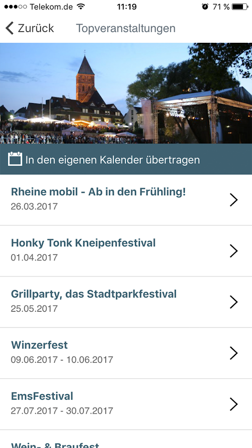 Rheine Guide- screenshot