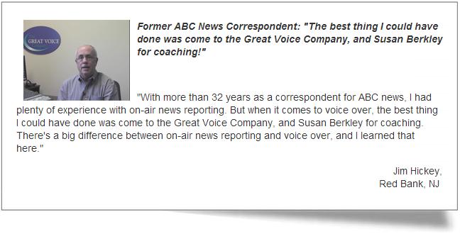 Great Voice Testimonial - Jim Hickey