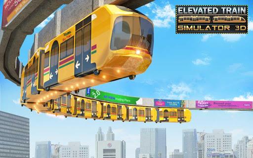 Elevated Train Driving Simulator: Sky Tram Driver apktram screenshots 8