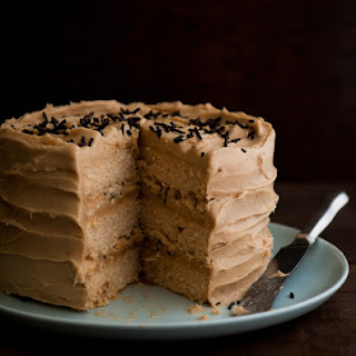 Lemon Speculoos Layer Cake with Chocolate Sprinkles.
