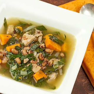 Chicken Soup with Collard Greens.