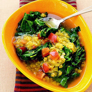 Easy Lemon Lentil Soup with Spinach