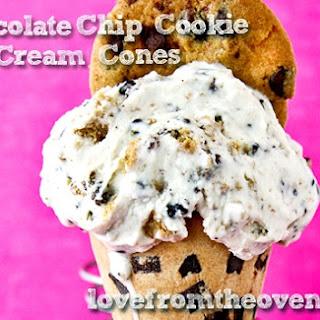 Chocolate Chip Cookie Ice Cream Cones