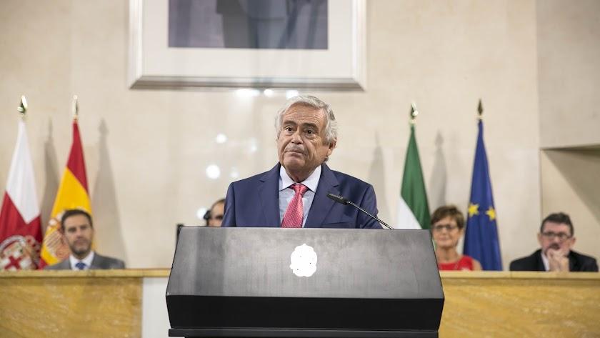 Andrés García Lorca, durante su intervención esta mañana.