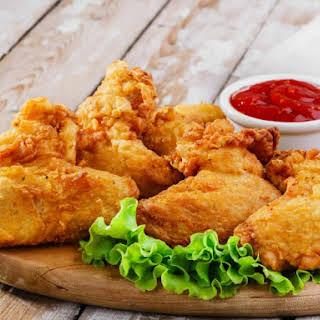 Deep Fried Garlic Chicken Wings.