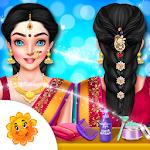 Indian Wedding Bride Hair Do Design And Spa Salon Icon
