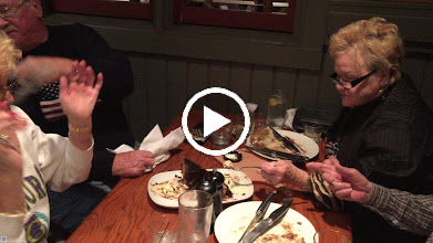Video: Helping Lynn with that delecious desert...cake and ice creme and something else very decadent :).