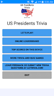US Presidents Trivia - náhled