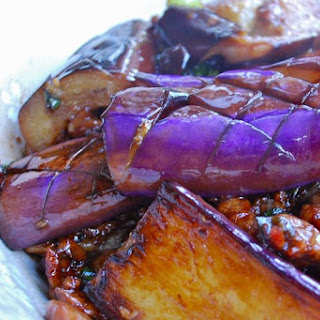 Criss-cross Pan-fried Eggplant.