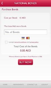 National Bonds Mobile App screenshot