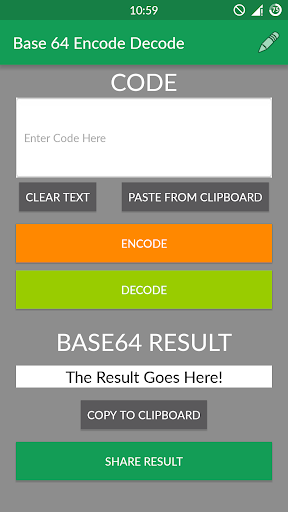 Base 64 Encode Decode