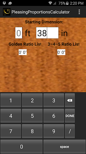 Pleasing Proportion Calculator
