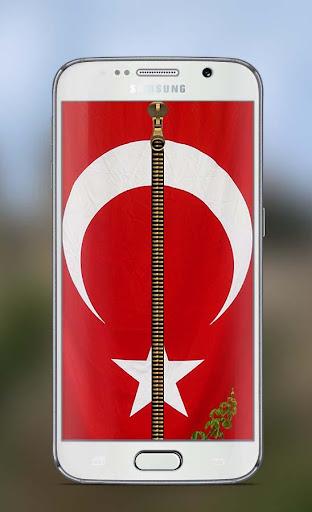 Turkey Flag Zipper Lock Screen