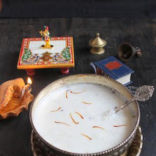 Doodanche Fov / Milk Poha / Beaten Rice In Milk.