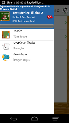 Test Merkezi İlkokul 2.Sınıf - screenshot