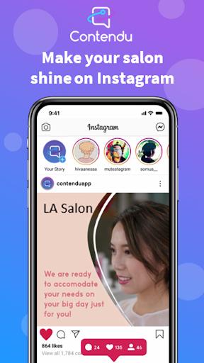 Contendu - Instagram Content for Beauty Salons screenshot 1