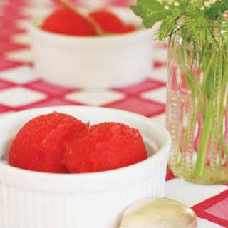 Strawberry-Prosecco Sorbet.