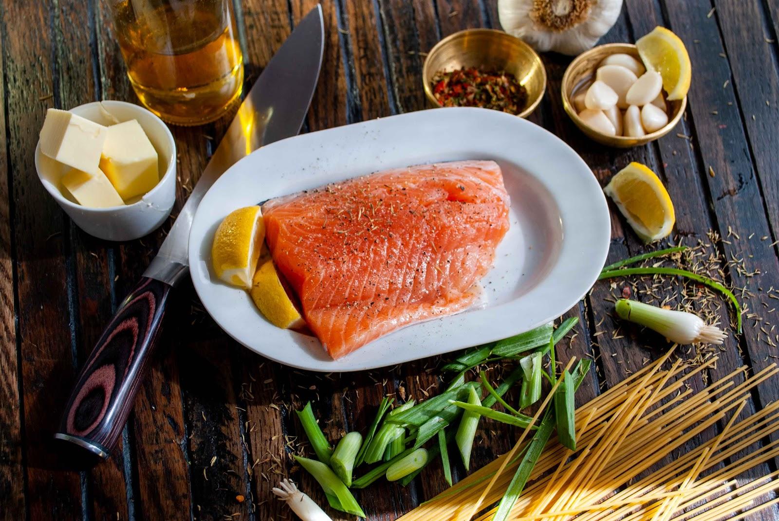 Mediterranean Style Dinner - Salmon
