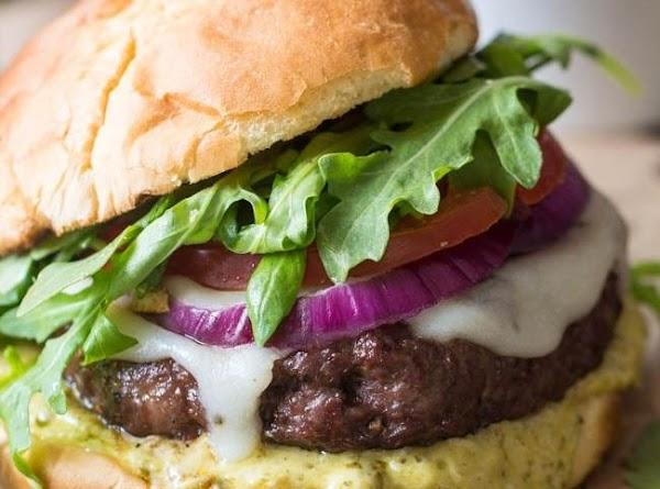 Tuscan Garlic Burgers With Pesto Mayo Recipe